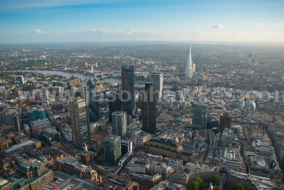 Aerial view of the City looking South, London