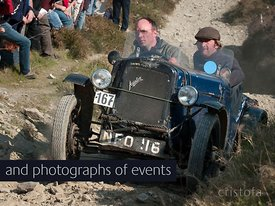 an Austin 7 climbs the Blue Hills section of the Land's End Trials