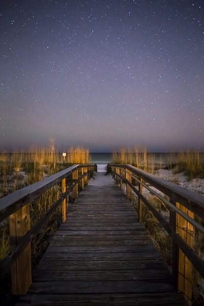 Pensacola Boardwalk and Stars