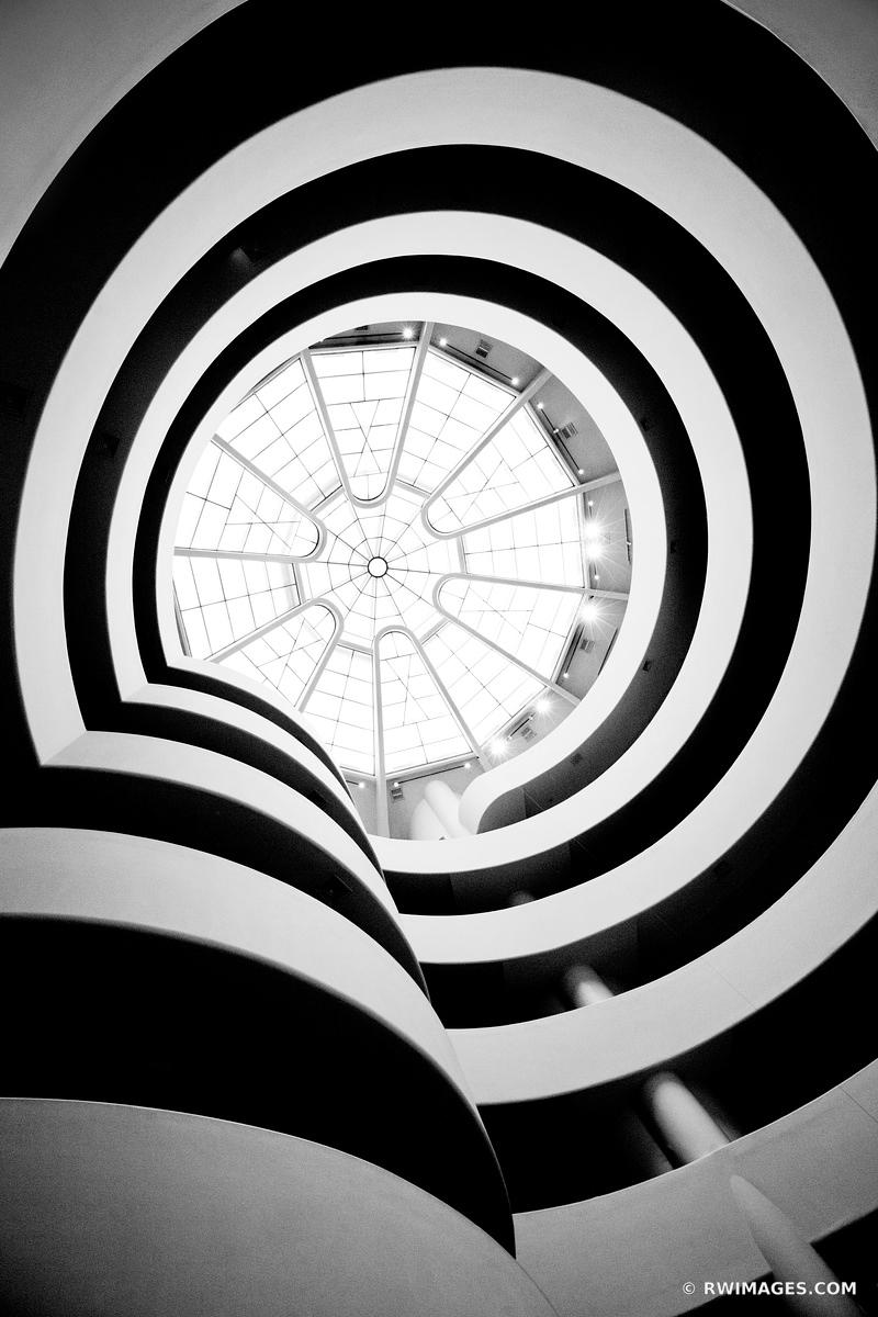 GUGGENHEIM MUSEUM NEW YORK CITY BLACK AND WHITE VERTICAL