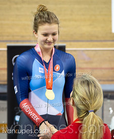 Junior Women Keirin Podium. Ontario Track Championships, March 3, 2019