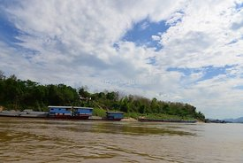 Houseboats on the Mekong River