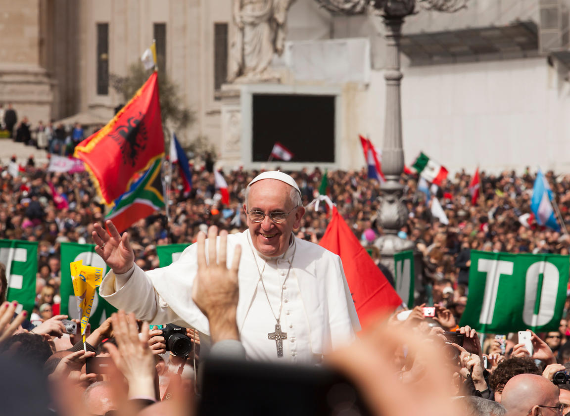 Pope Francis I Easter Day service in St. Peter's Square.