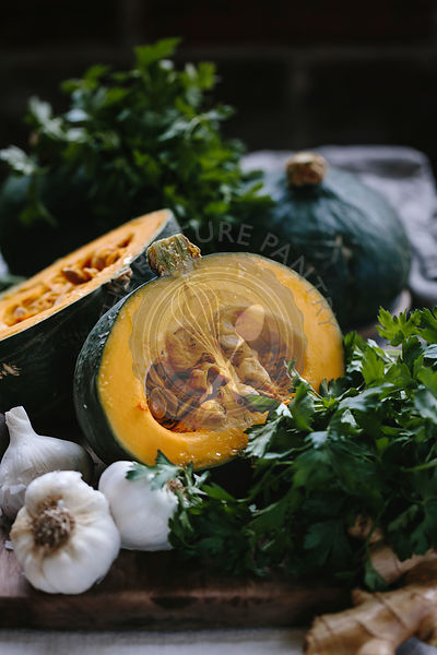 Ingredients for Kabocha squash soup