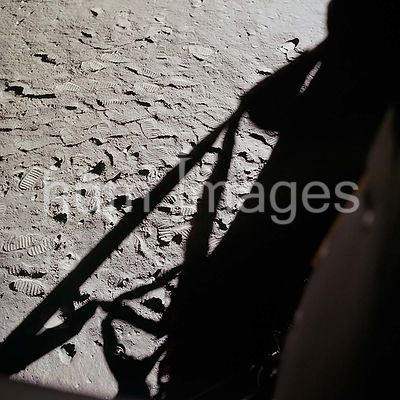 (20 July 1969) --- This photograph shows in fine detail the impressions in the lunar soil made by astronauts Neil A. Armstron...