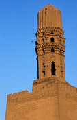 Minaret in the mosque of al-Hakim, Islamic Cairo, Egypt