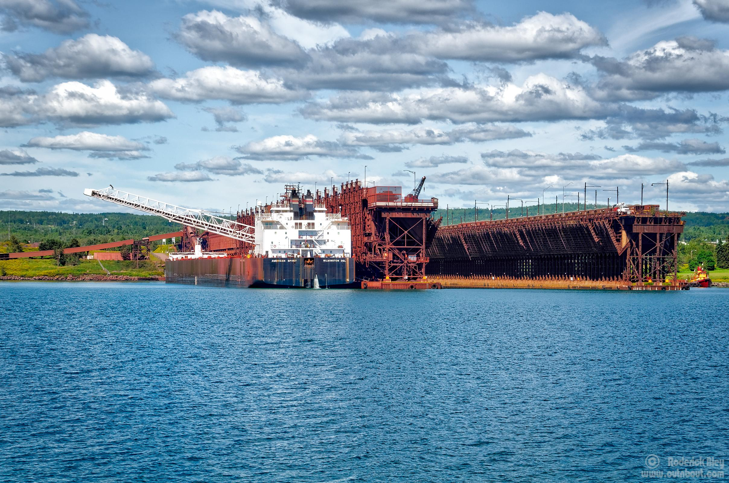 Iron ore loading onto Laker