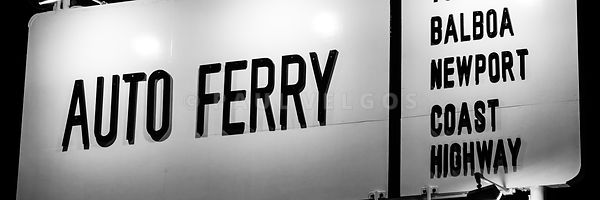 Newport Beach Balboa Ferry Sign Photo