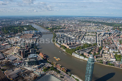 Aerial view of Nine Elms and Pimlico, London