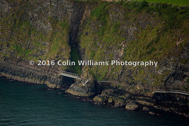 Aerial view - The Gobbins coastal path