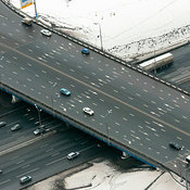Moscow, Russia. The interchange at the intersection of Moscow Ring Road and Shchelkovskoe Shocce.