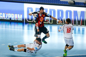 Luka ŠEBETIĆ of PPD Zagreb , Ilija ABUTOVIĆ of Vardar during the Final Tournament - Final Four - SEHA - Gazprom league, semi ...