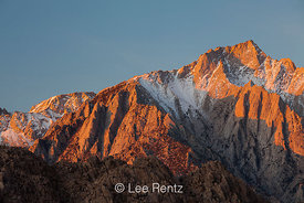 Dawn Light on Lone Pine Peak in the Sierra Nevada Mountains