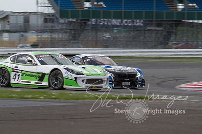 Optimum Motorsport's Ginetta G55 GT4 in action at the Silverstone 500 - the third round of the British GT Championship 2014 -...