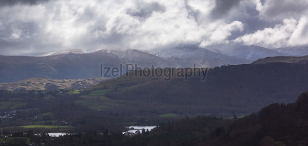 Blencathra on a mixed weather day in the Lake District