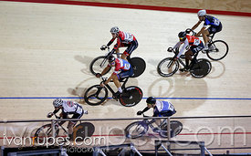 Men's omnium scratch race. Milton International Challenge, January 10, 2015
