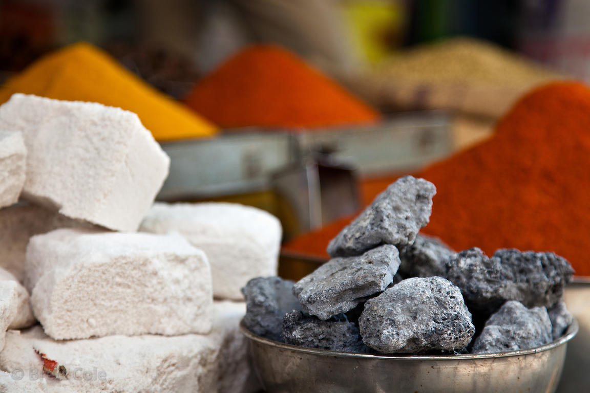 Rock salt for sale at a market in Bharatpur, Rajasthan, India