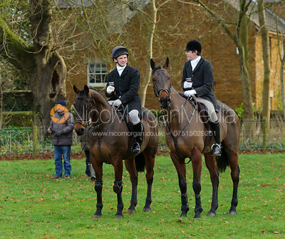 at the meet at Goadby Hall - The Belvoir Hunt at Goadby Hall 24/12
