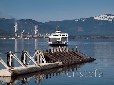 Vesuvius Harbour, BC ferry and Crofton  pulp mill