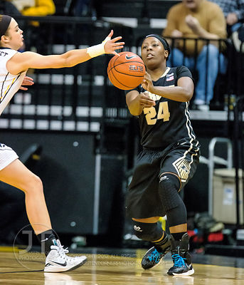 Iowa's Aly Disterhoft (2) attempts to block a pass by Purdue's Andreona Keys (24) during the first half of play at Carver-Haw...