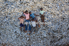 Yanam, Kids Lying on Seashells