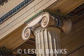 Ionic Column Detail at Philadelphia Art Museum