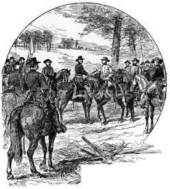 Civil War: meeting of Sherman and Johnston