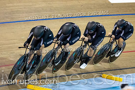 Women's Team Pursuit Bronze Medal Final. Track Cycling World Cup Milton, October 26, 2018