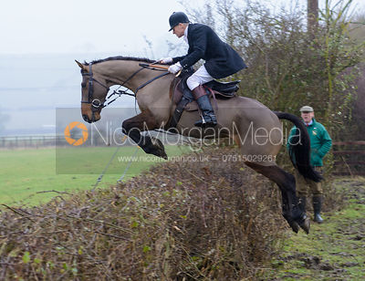 John Knowles jumping a hedge at Town Park Farm