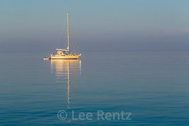 Sailboat at Dawn in Dry Tortugas National Park