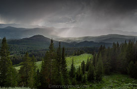 Absaroka Mountain Rain Shower