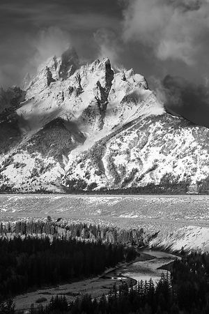 Grand Teton Wyoming 2014: Photographer: Neil Emmerson (Image shot to mirror the 1942 Ansel Adams Snake River classic American...