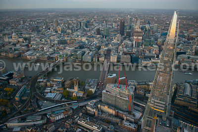 London. Aerial view of the Shard