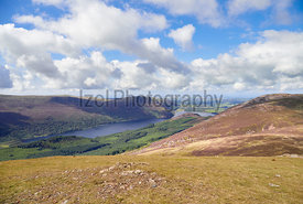 Views of Ennerdale Water to with the summit of Gtreat Born to the right. The English Lake District, UK.