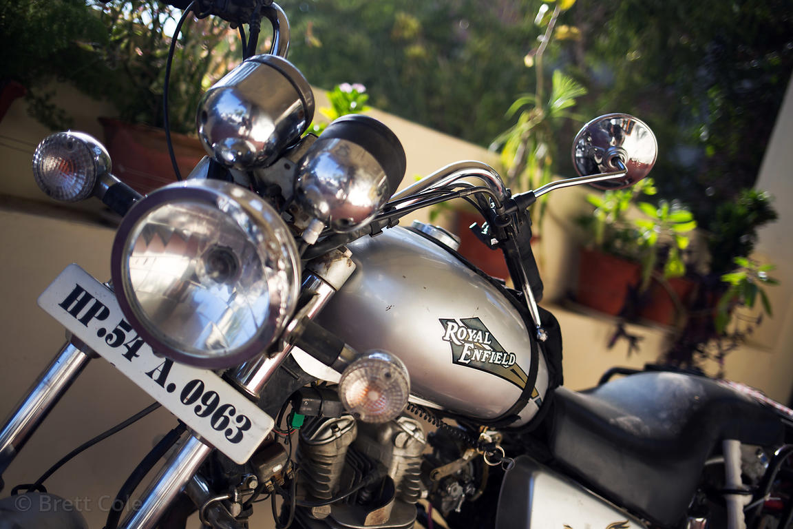 Royal Enfield motorcycle in Pushkar, Rajasthan, India