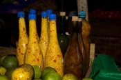 local rum, market, Hell-Ville, Nosy Be, Madagascar