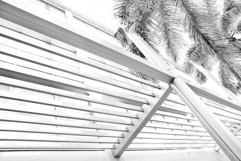MODERN ARCHITECTURE MIAMI FLORIDA BLACK AND WHITE