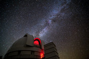 Otto Struve Telescope and the Milky Way