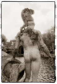 Statue of a Greek warrior at Hadrian's Villa.
