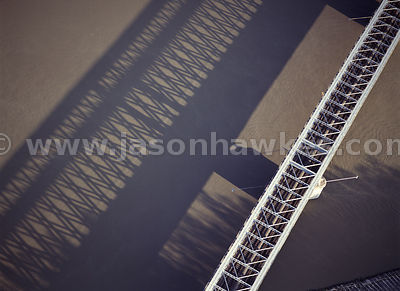 rail bridge and shadow