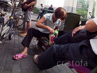 shoe shine in Shanghai