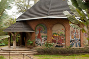Historical murals, KuNgoni museum, Mua Mission, Malawi