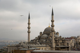 Süleymaniye Mosque, an Ottoman imperial mosque located on the Third Hill of Istanbul.