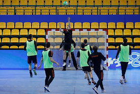 Team Vardar during the Final Tournament - Final Four - SEHA - Gazprom league, Team training in Brest, Belarus, 06.04.2017, Ma...