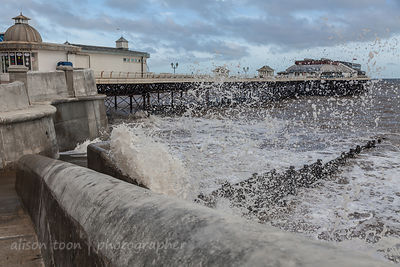 Cromer at high tide