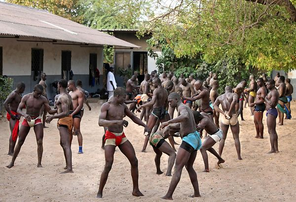 The Ndakaru wrestling school in Dakar.