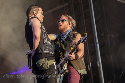 Brent Smith, vocals, and Zach Myers, guitar, Shinedown