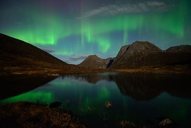 Nordlys, Northern ligths (Aurora borealis) at Senja, Norway