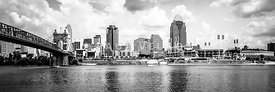 Cincinnati Skyline Panoramic Picture