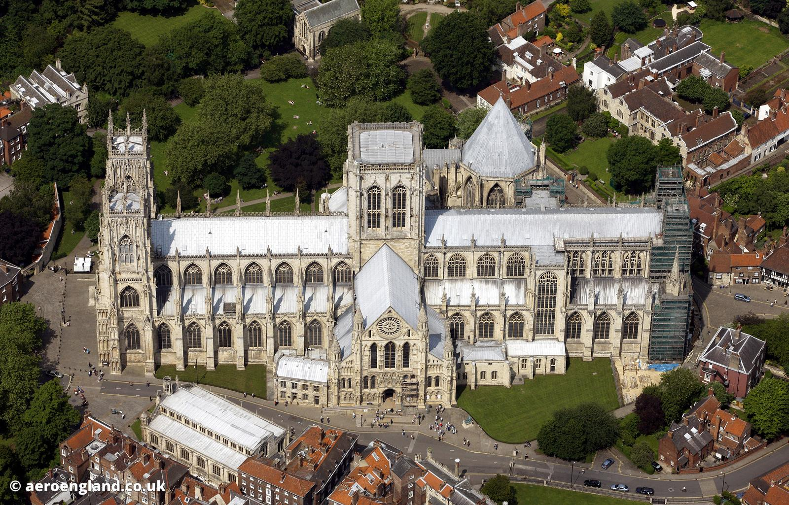 aerial photograph of York Minster , Yorkshire   England UK